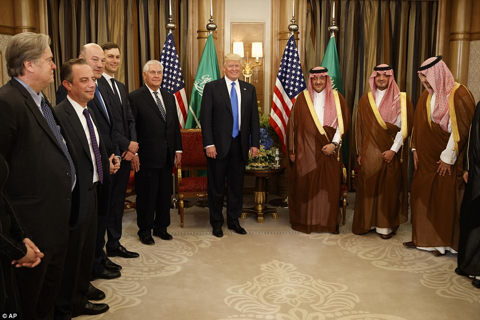 Trump and his team of advisers held a bilateral meeting with Saudi Crown Prince Muhammad bin Nayef on Saturday
