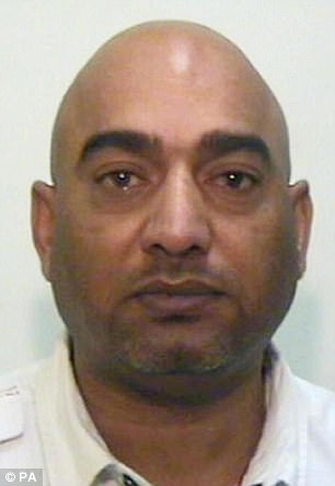 Mohammed Amin, 50, pictured, was jailed for five years and is now understood to have been freed along with the rest of the gang bar two of the members