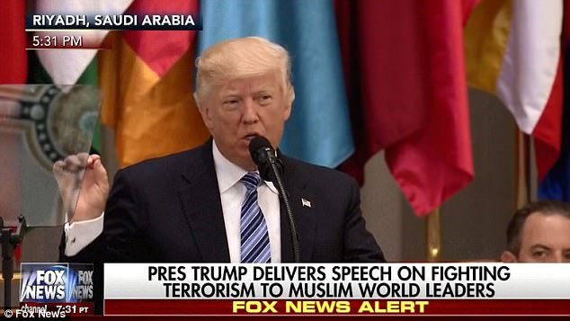 'Muslim-majority countries must take the lead in combating radicalization,' Trump said in Riyadh, Saudi Arabia, in his first speech abroad as president