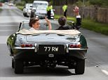 Bride Pippa Middleton and her new husband James Matthews seen leaving St Mark's Church in a classic car a