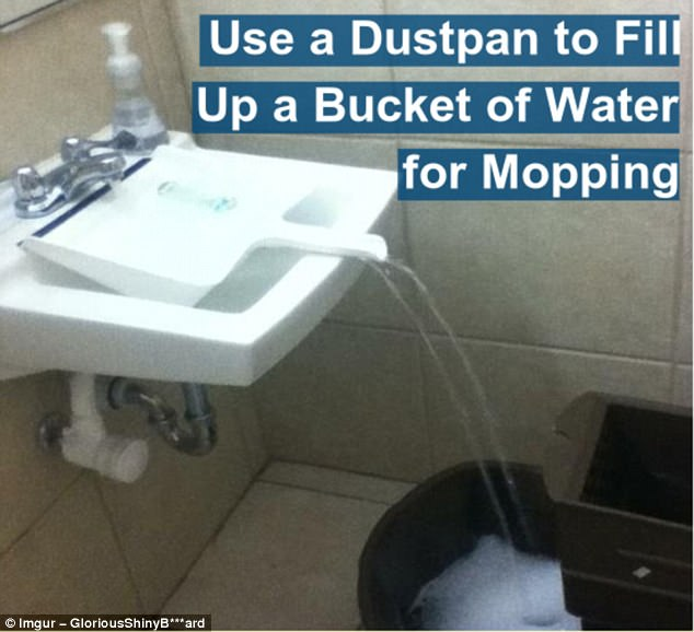 Plastic waterfall: Unless you have a sizable sink, filling a bucket of water can be a bit of a chore. Not anymore
