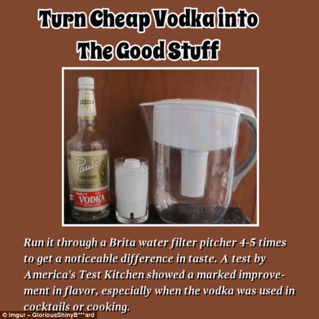 Thrifty: Why purchase triple-distilled vodka for premium prices when you can do the process yourself at home?
