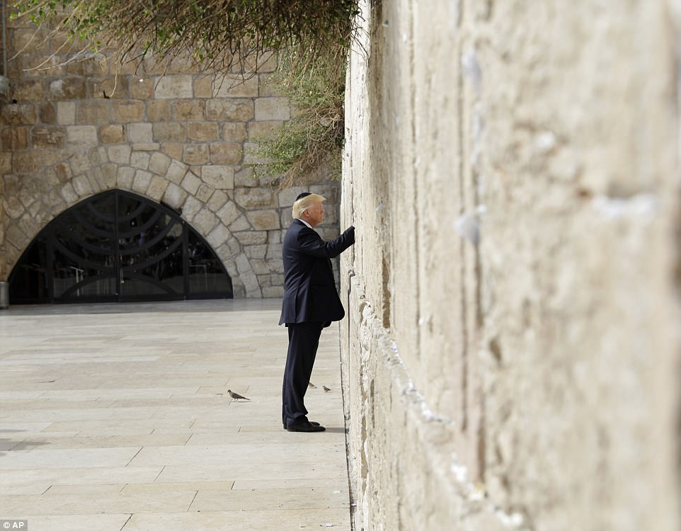 It has been U.S. policy for the last 50 years to not recognize East Jerusalem as part of Israel, making a visit to the wall a political minefield, but Trump took the risk
