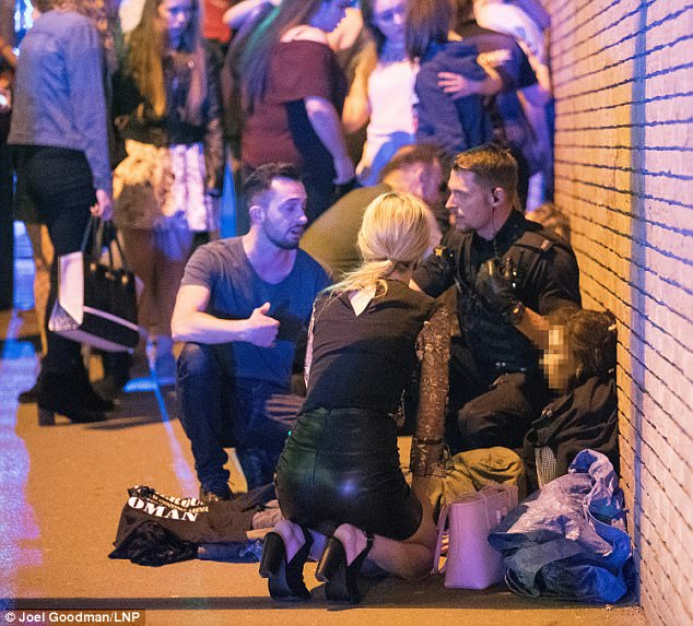 Witnesses described seeing blood and body part everywhere as they left the arena, while the streets were swamped with medics and police treating the wounded