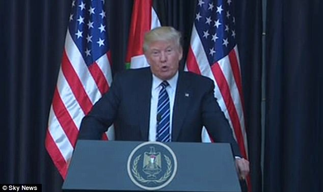President Donald Trump has condemned the terror attack in Manchester and branded the perpetrator and 'evil loser' as he said America stands in solidarity with Britain
