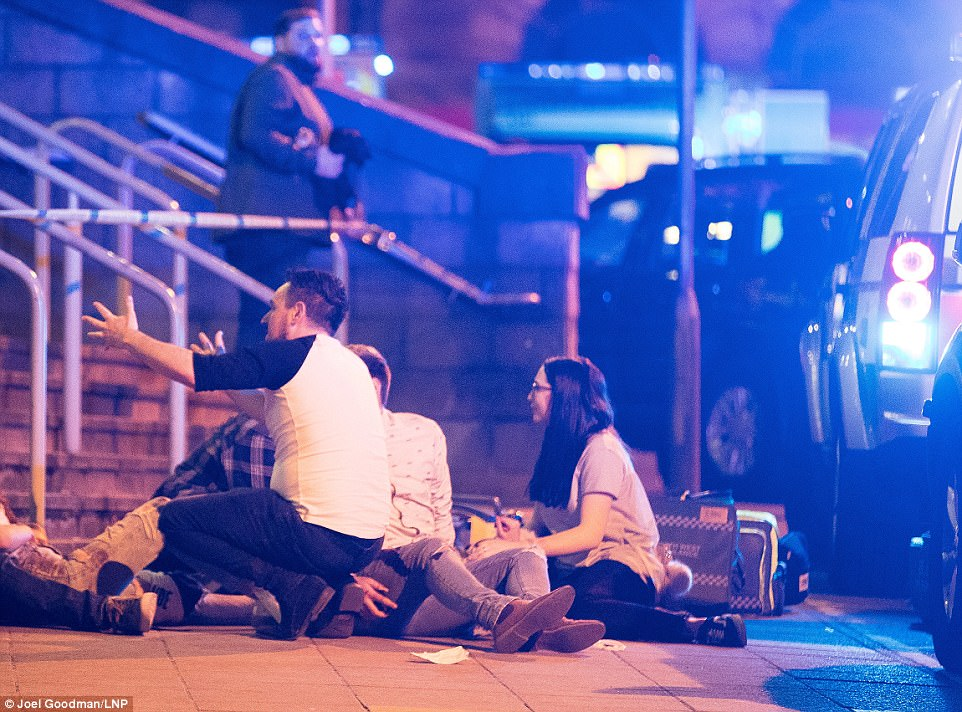 Concert-goers and witnesses have described the chaos after 'huge bomb-like bangs' went off in Manchester Arena following an Ariana Grande gig
