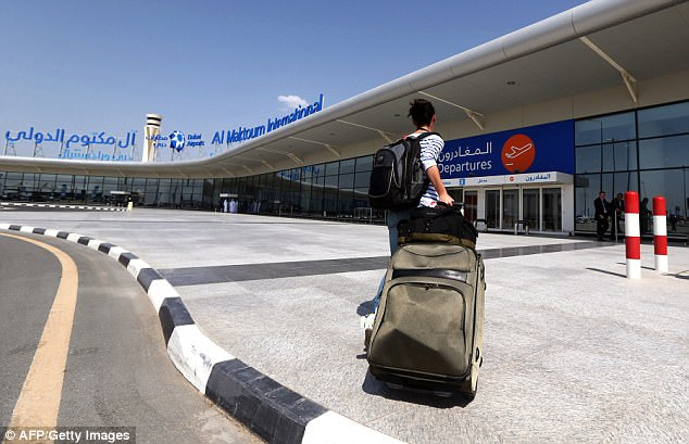 The security alert was raised at Dubai Airport (file image) and several passengers are now refusing to get on the plane