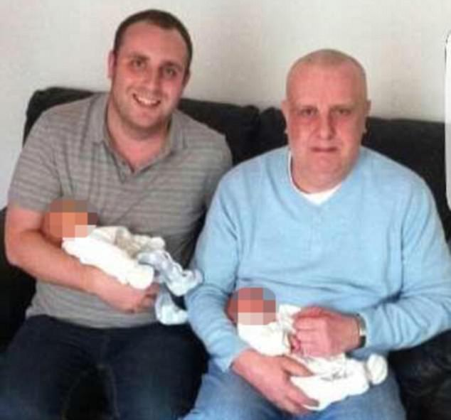 Jimmy Ballentine (right, pictured with his son Dale)was investigated by the Department for Work and Pensions after wrongly receiving handouts for 10 years