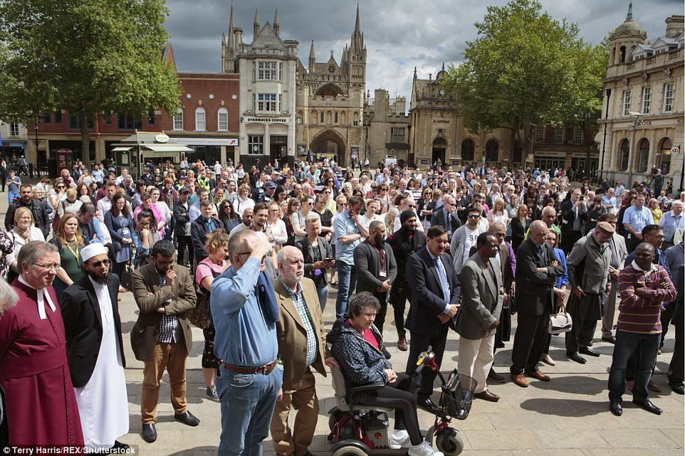 Other cities around also held events in memory of those killed in the attack. A minute's silence was held in Peterborough