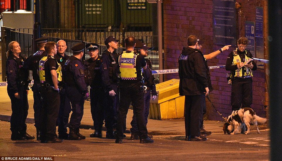 Manchester Chief Constable Ian Hopkins said police were treating the blast as a terrorist incident and were working with counter-terrorism police and intelligence agencies. They gave no further details on their investigation