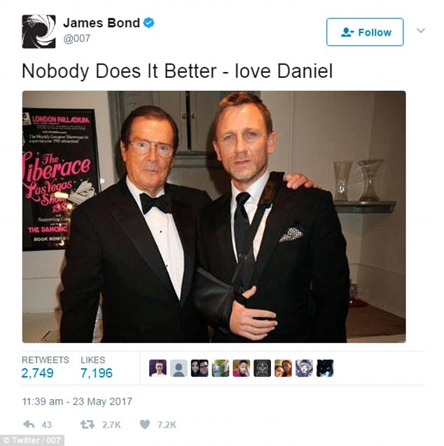 Image result for roger moore daniel craig nobody does it better