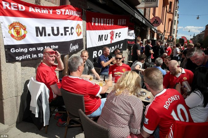 The travelling fans were soaking up the atmosphere, and the sunshine, in Sweden ahead of the showpiece final on Wednesday