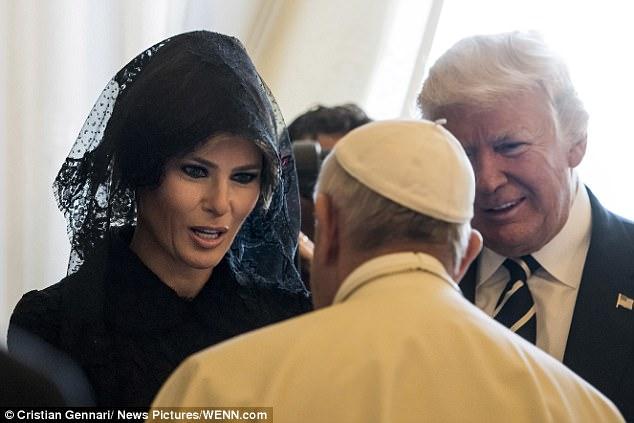 Image result for pope blesses melanias rosary