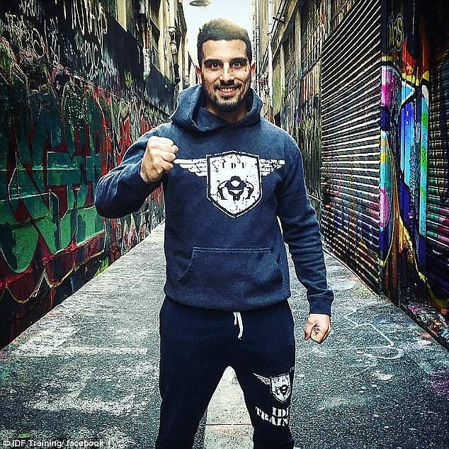 Melbourne gym owner Avi Yemini (pictured) received a vile death threat over Facebook following his criticism of attacks overseas by Islamic militants