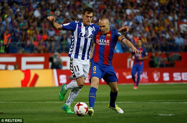 Barca's 3-1 Copa del rey win over Alaves ensured Iniesta picked up the 33rd title of his career