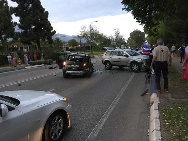 There was carnage on the streets of Marbella after the car struck several pedestrians