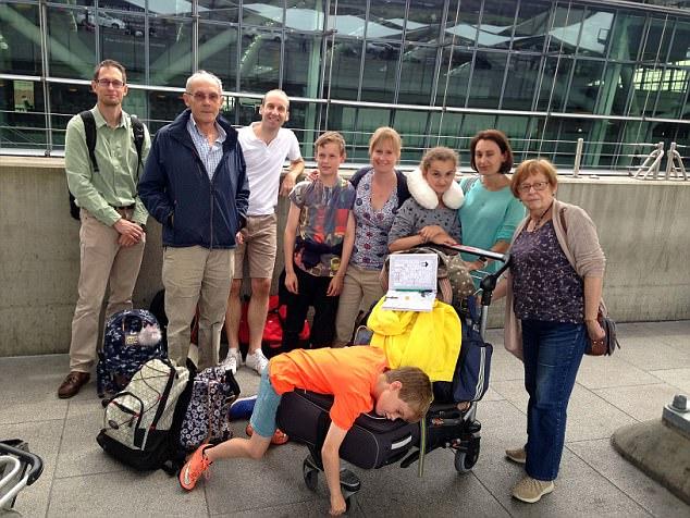 Liz Carleton, 41, James Carleton, 71 Steve Wickham, 44, Cathy Carleton, 71, Mark Carleton, 42 and kids Olive, Sam, James and Jack
