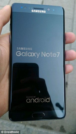 Pictures of the refurbished Galaxy Note 7 (pictured) handset had recently leaked online revealed what it will look like and, unsurprisingly, it's exactly the same