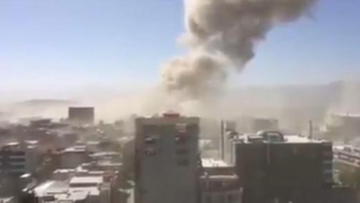 Pictures from the scene show a massive tower of smoke climbing into the sky in the aftermath of a huge truck bomb in Kabul