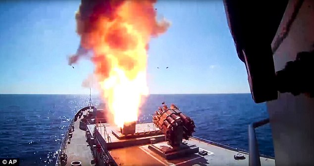 Image result for russian ships firing cruise missiles, photos