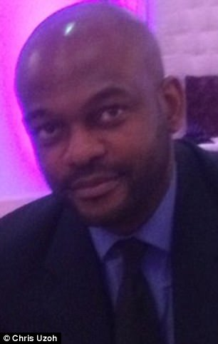 Dr Chris Uzoh (pictured) started texting one of his female patients after getting her number from her medical records