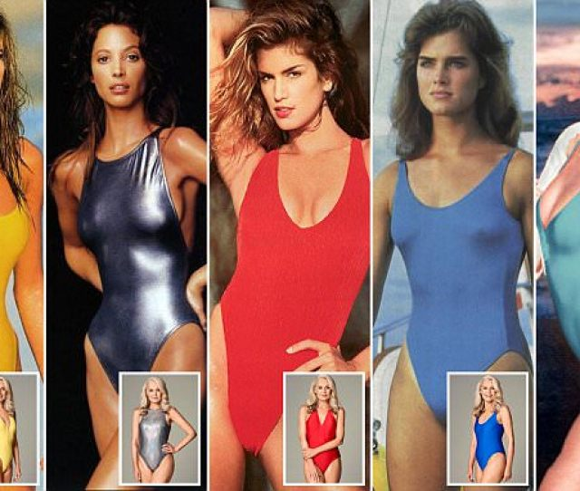 Return Of The Supermodel Swimsuit The 80s Power Costume Loved By Cindy Crawford And Co Is Back But Would You Dare Wear One
