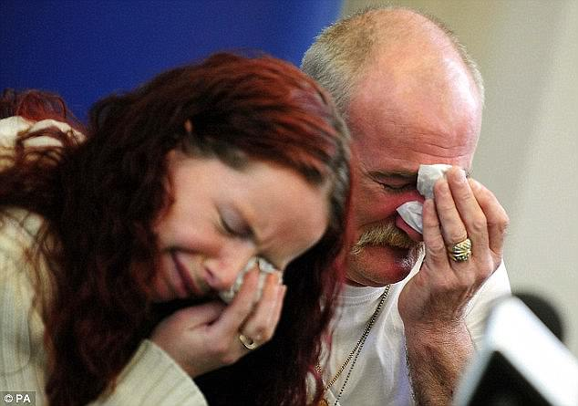 Mairead and Mick Philpott at the tearful press conference they staged appealing for help to find the children's killers - despite knowing they had set the fire