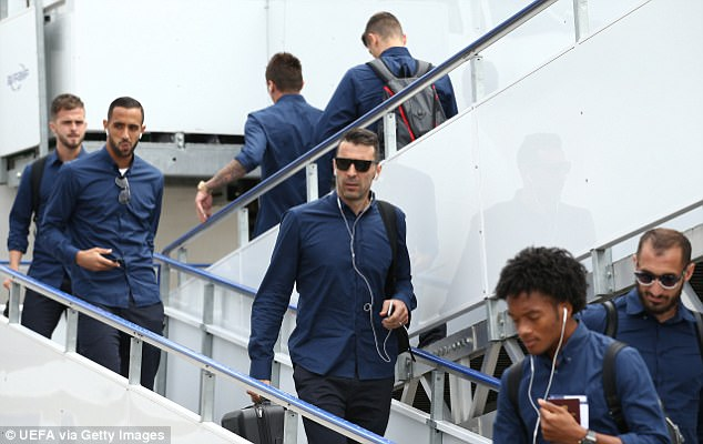Juventus goalkeeper Gianluigi Buffon touches down in Cardiff ahead of Real Madrid clash