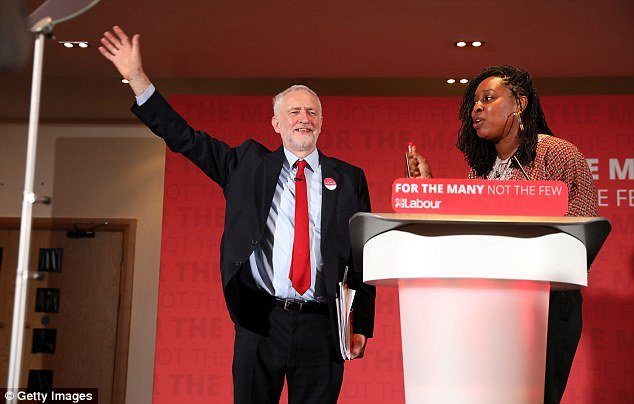 Labour Leader Jeremy Corbyn launches their party's 'Race and Faith' manifesto with Barbara Ntumy