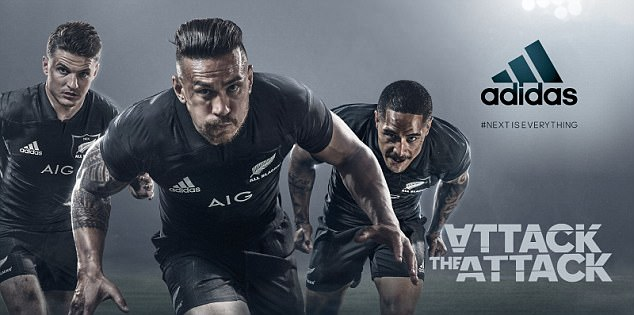 Williams is central to the All Blacks marketing campaign and is now their main man