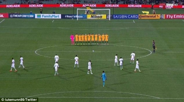 The Saudi Arabian soccer team failed to line up for a minute's silence for the London terror victims on Thursday night