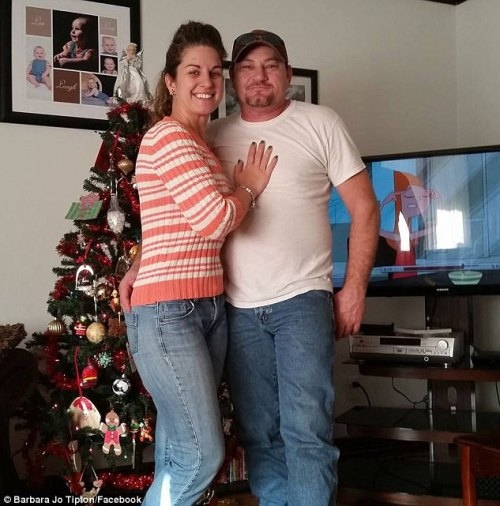 Barbara (left, with her husband on the right) was charged with incest, statutory rape and soliciting sex from a minor