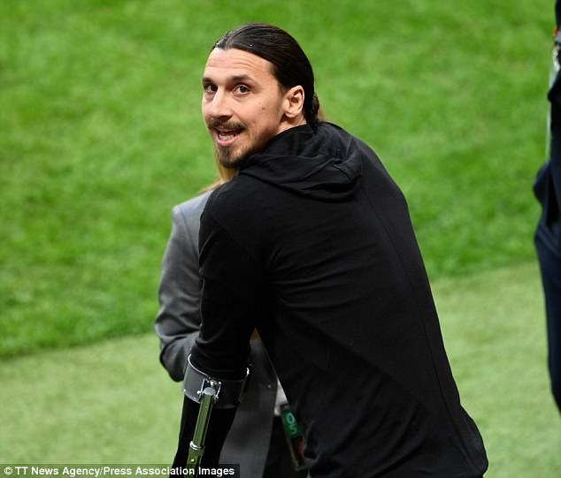 Swedish striker Ibrahimovic suffered a cruciate ligament injury towards the end of last season