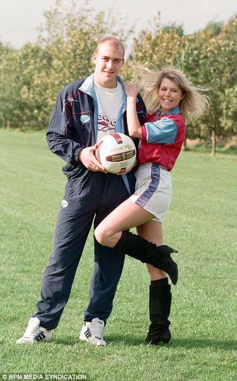 Wadsworth with former Aston Villa starMark Draper