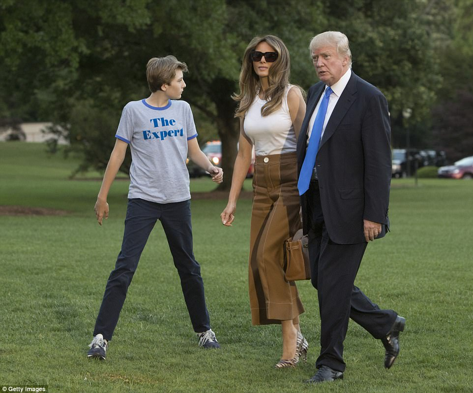 It was reported last week that the first lady and Barron were scheduled to move into the White House on June 14, the president's birthday, an occasion he's been known in the past to celebrate lavishly. But around 8pm on Sunday, the first lady tweeted: 'Looking forward to the memories we'll make in our new home! #Movingday'