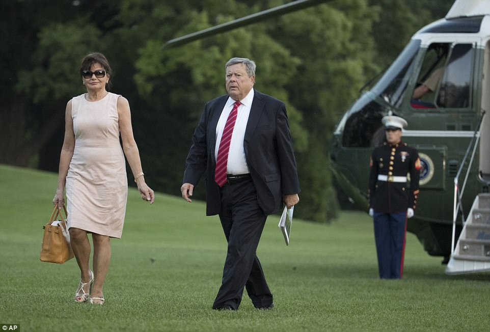 The Knavs are also expected to become more familiar figures around the White House, helping care for Barron, though they don't plan to relocate full time to Washington. The pair currently live with their daughter and grandson in the Trump Tower penthouse and spend most weekends with the Trumps at Mar-a-Lago, or at the Trump National Golf Club in New Jersey