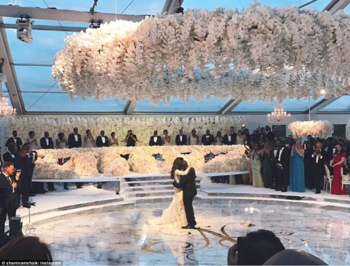 Folarin Alakija, who is the son of Folorunsho Alakija, the richest black woman in the world, married Iranian beauty Nazanin Jafarian Ghaissarifar in a lavish bash at Blenheim Palace in Oxfordshire over the weekend