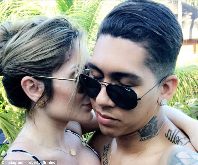 Liverpool forward Roberto Firmino took to Instagram again with wife Larissa Pereira