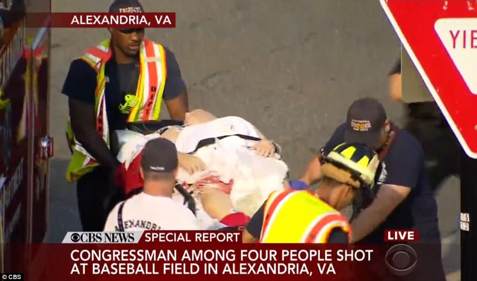 Scalise was one of five injured by the gunman who fired up to 100 rounds before he was wounded by Capitol Police