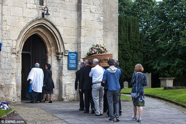 The Coffin Carrying Rosa Kings Body Is Taken Into St Andrews Church In Chippenham Today