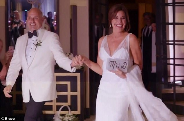 Bride and groom: Luann D'Agostino and Tom got married on Wednesday's episode of The Real Housewives Of New York City