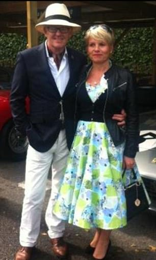 Rydon's CEO Robert Bond (pictured with his wife at a classic car event) said last night the work 'met all required building regulations' and was signed off by the council's building control