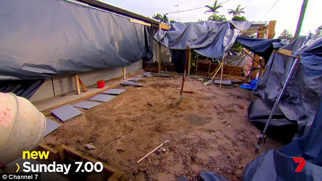 Devastation: Couples faced a daunting task upon return, after Cyclone Debbie hit Aaron and Daniella's house so badly, the clock had to be stopped for the first time in the show's history