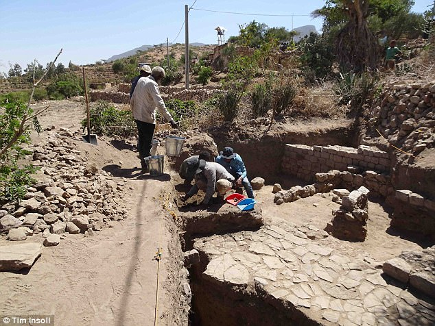 Professor Timothy Insoll, who led the research, said: 'This discovery revolutionises our understanding of trade in an archaeologically neglected part of Ethiopia. What we have found shows this area was the centre of trade in that region'