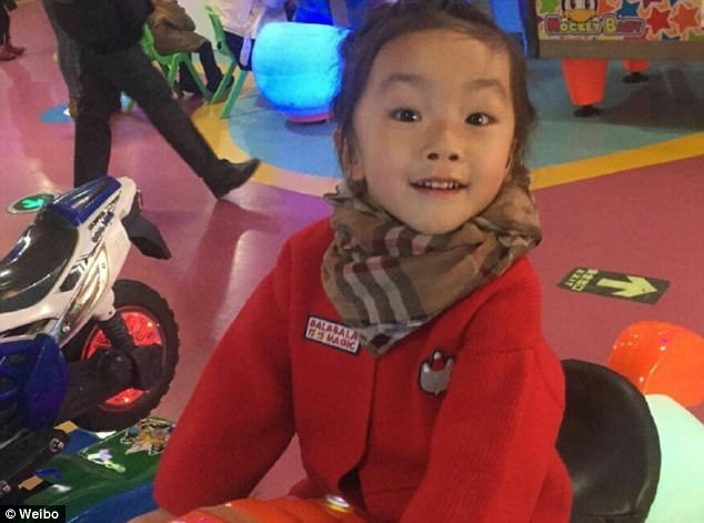 Guo Jintong (pictured) is said to have died after her teacher taped her mouth in China