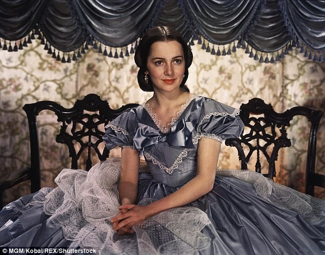 Classic beauty: Olivia de Havilland as Melanie in Gone With The Wind