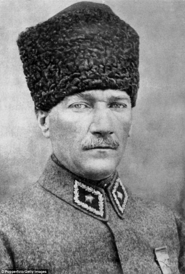Turkey's founding fatherMustafa Kemal Atatürk words have been removed from sight in May