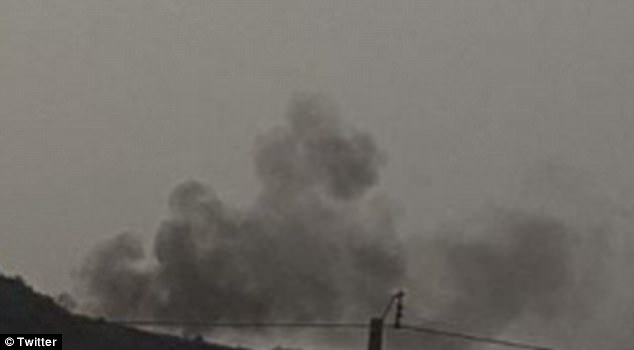 Smoke was seen billowing up, believed to be coming from a holiday resort near Bamako