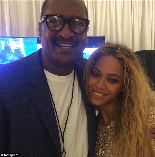 With her papa: Beyonce and her father Mathew Knowles in a photo from 2016
