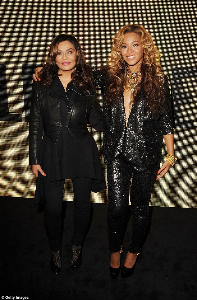 'Can't wait': Meanwhile, the Halo hitmaker's mother Tina Lawson previously said she 'can't wait' for the arrival of her new grandchildren (Pictured 2011)